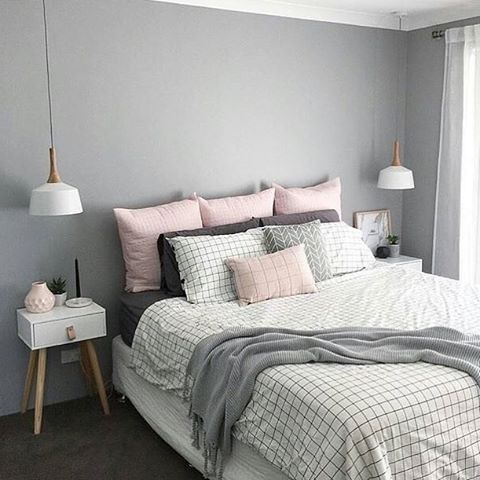 this was one of the most liked bedrooms i posted at the start of 2016 - Grey Wall Bedroom Ideas