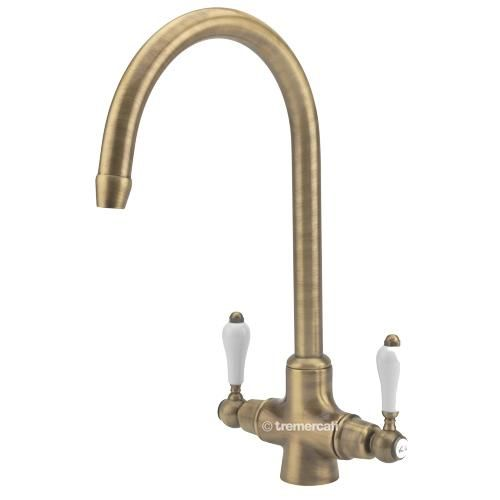 Tre Mercati French Classic Antique Brass Mono Lever Kitchen Sink Tap 287