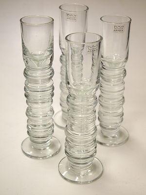 Oiva Toikka Nuutajarvi Glasses. 1960's