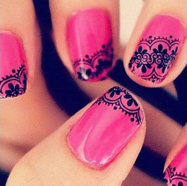 20 Fashionable Lace Nail Art Designs, http://hative.com/fashionable-lace-nail-art-designs/,