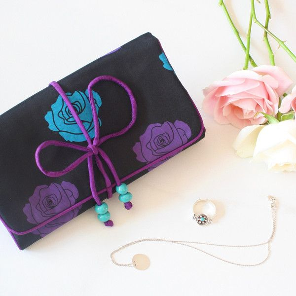 Here's to making every journey beautiful. Check out our signature Silk Travel Jewellery Roll in action!