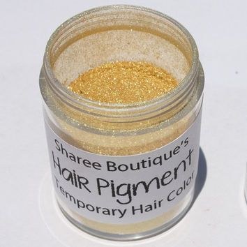 Bright Gold Hair Pigment - Temporary Hair from ShareeBoutique on