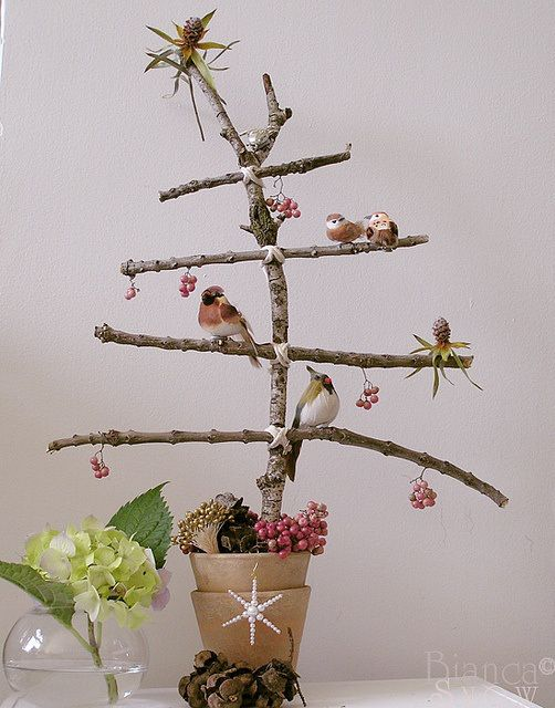 DIY unusual christmas trees, twig