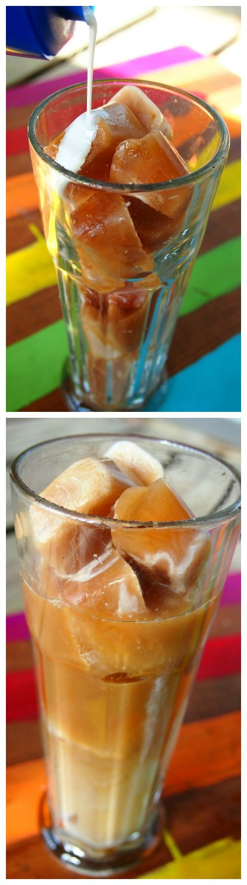 30 Calorie French Vanilla Iced Coffee With Coffee Cubes!