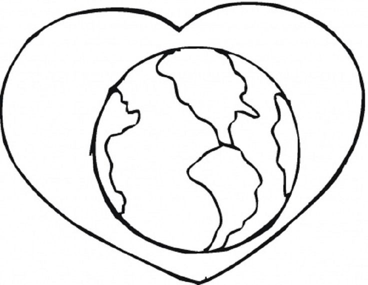 love the earth coloring pages