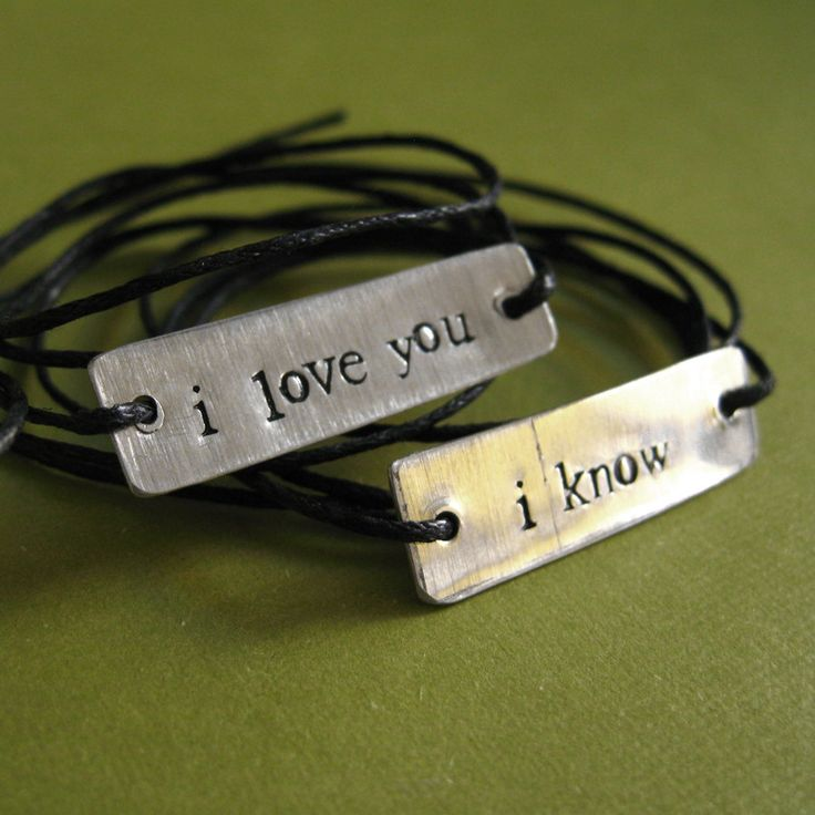 Cute couple bracelets