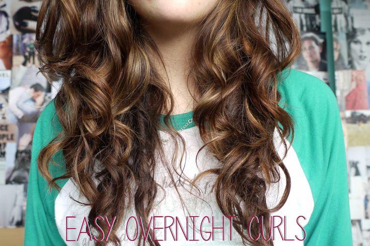 KJ .::. Easy Overnight Curls Tutorial