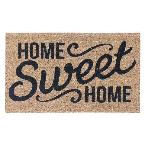 Target - for the new house!  Threshold™ Home Sweet Home Doormat 18x30