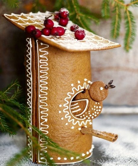 Gingerbread Birdhouse | Content in a Cottage