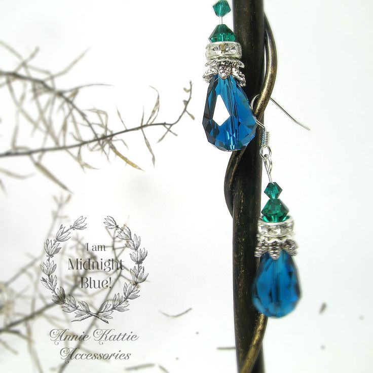 ♥ Do you know blue is the color of trust smile emoticon ♥ Free delivery worldwide  ♥ More items at anniekattie.etsy.com