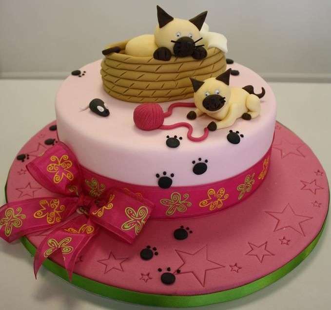 Cute cat cake or sculpey figurine - inspiration only - bjl