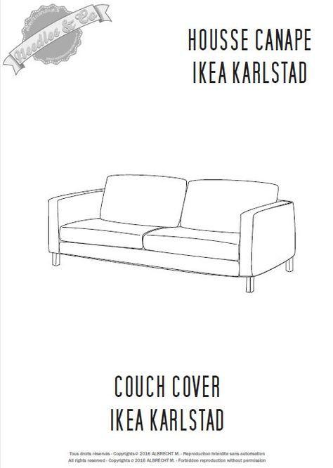 Ikea Karlstad Couch Cover Pattern Patron Housse Ikea Karlstad