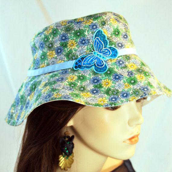 Girl's Butterfly & Daisy Sunhat