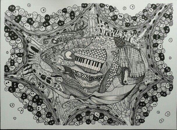Anatomía del desquiciado Rapidógrafos sobre opalina :)