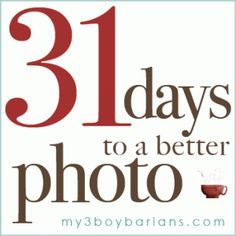 Thank you for your interest in 31 Days to a Better Photo! I'm glad you're here and want to learn how to make the most of your dSLR. With a little time together, you can be shooting manually in a mo...