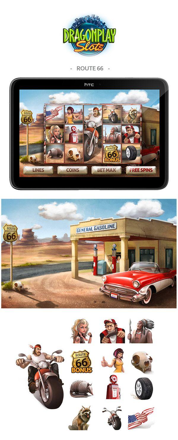 Slot City - route 66 theme on Behance