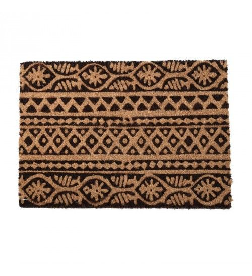 DOORMAT W_PVC BACK AND SYNTHETIC GRASS BROWN_BEIGE 40X60