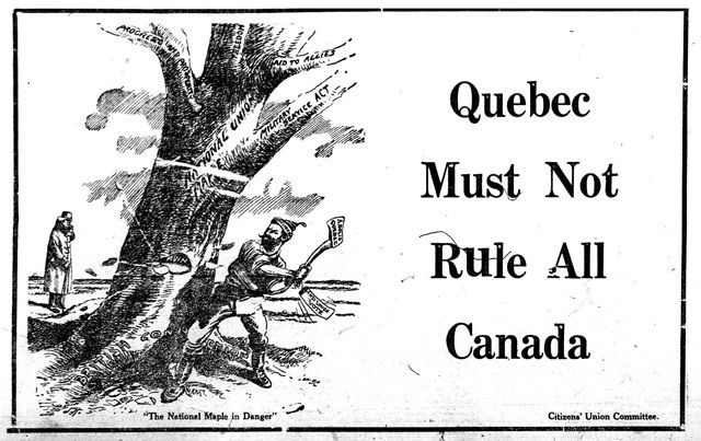 The war wasn't the only thing that cartoonists focused on. The Canadian homefront was in the midst of political turmoil and change from 1914 to 1918. Artists across the country captured the divisive era on paper. #quebec #cdnhist #ww1 #cdnhistory