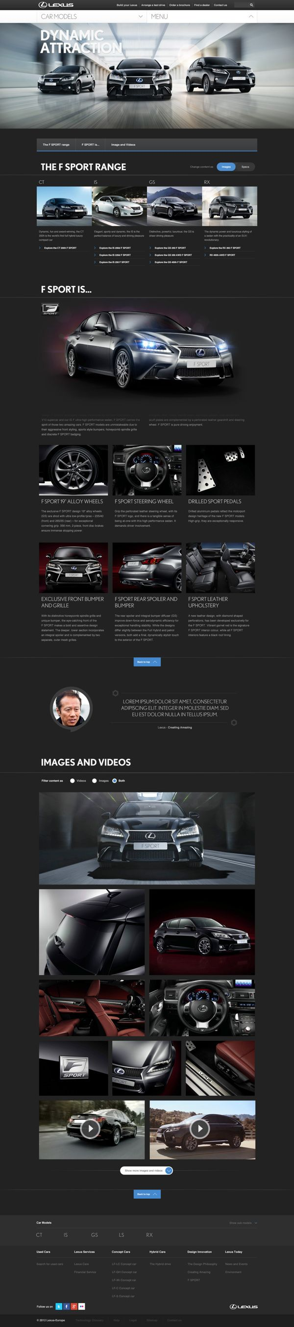 Cool Automotive Web Design on the Internet. Lexus. #automotive #webdesign #webdevelopment #website