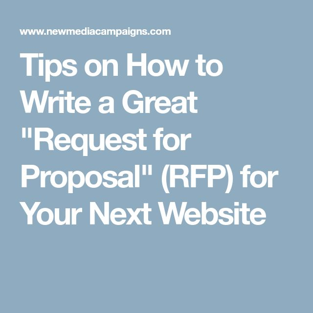 how to create an rfp for a website