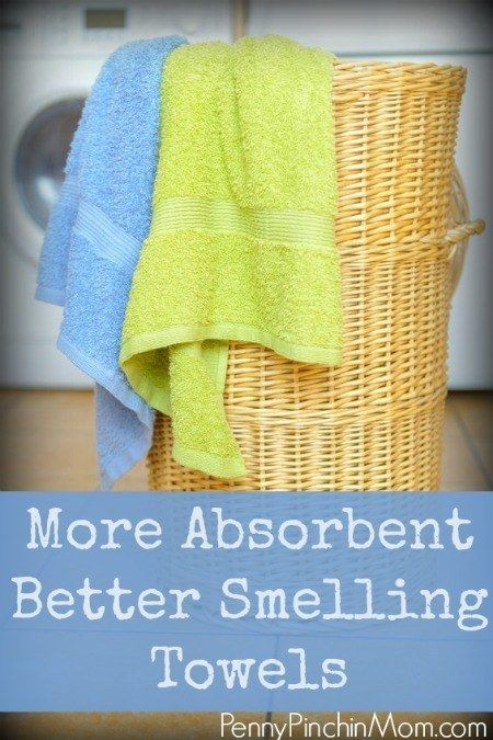 Wash smelly towels in vinegar and hot water and then baking soda and hot water to make them smell fresh again.