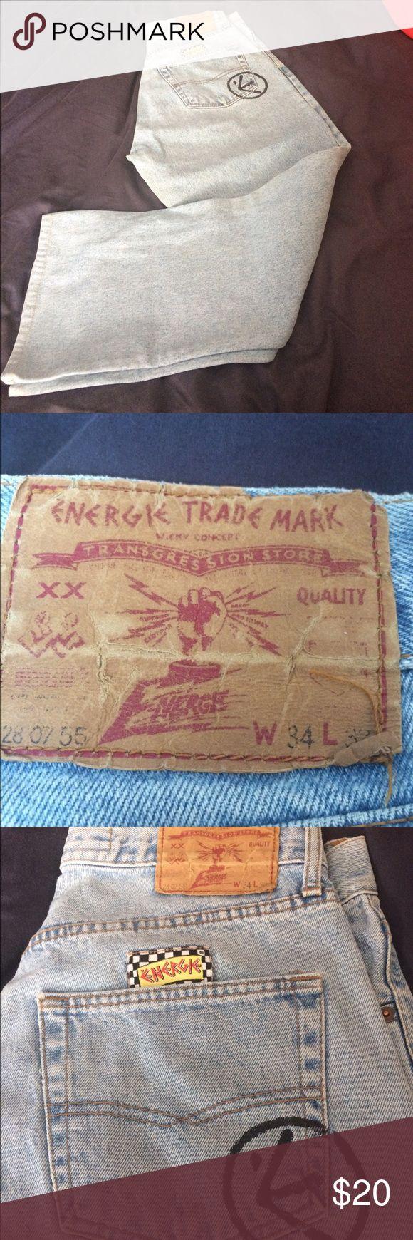 Energie jeans. Gently worn. Vintage energie jeans. Waist 34, length 32. Energie Jeans Flare & Wide Leg