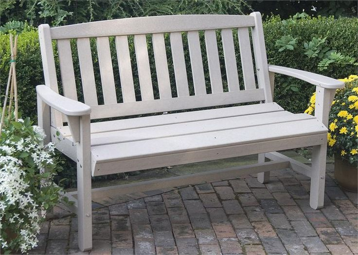 Lifestyle Poly Resin Mission Bench Outdoor Furniture