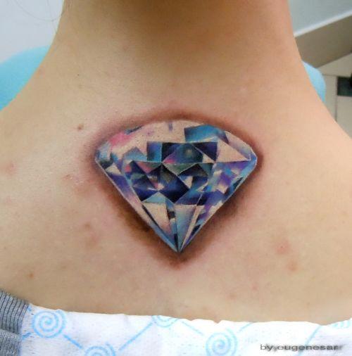 Diamond Neck Tattoo