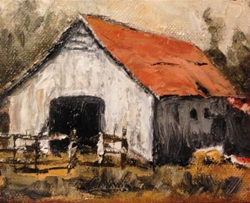 "Daily Paintworks - ""Zorn Barn"" - Original Fine Art for Sale - © Debbie Yacenda"