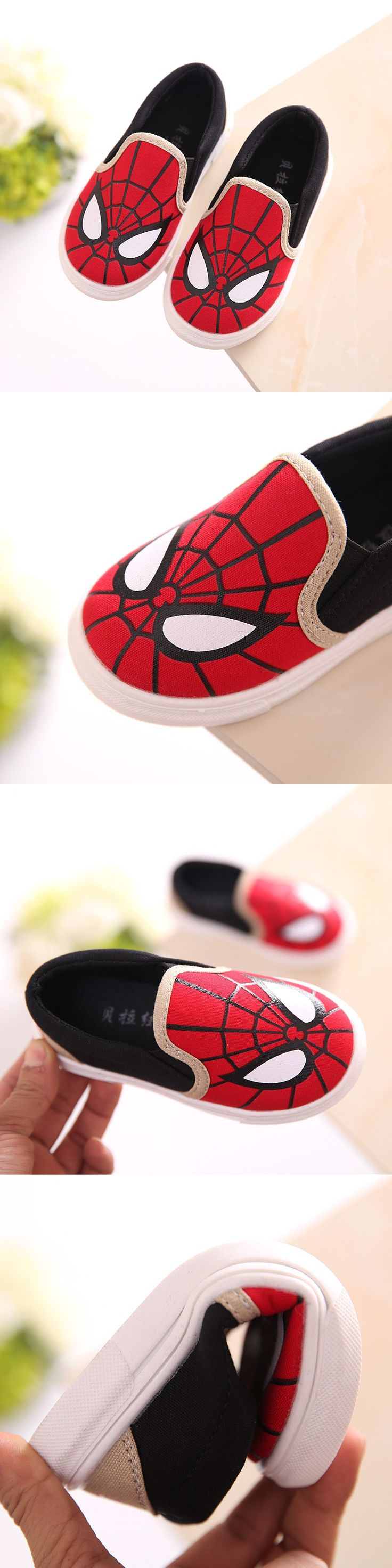 2016 New Spider-Man Children Shoes For Girls Baby Canvas Cartoon Sneakers Kids Shoes For Boys Girls Chaussure Enfant Size 21-30