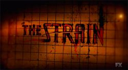 """The Strain is an American vampire horror–drama television series that premiered on FX on July 13, 2014.[1] It was created by Guillermo del Toro and Chuck Hogan, based on their novel trilogy of the same name. Del Toro and Hogan wrote the pilot episode, """"Night Zero"""", which del Toro directed. A thirteen-episode first season was ordered on November 19, 2013."""