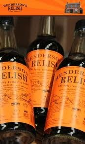 hendersons relish - Made in Sheffield. There is now a bottle in Texas.