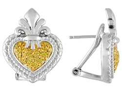 Yellow #diamond heart #earrings from Jewelry Television