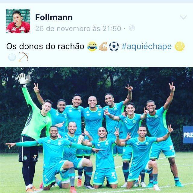Uma das ultimas publicações do Follmann na sua página oficial, 2 dias antes do acidente.  Nas alegrias e nas horas mais difíceis, meu furacão, tu é sempre um vencedor.  DALHE CHAPE 💚 #follmann #lutochapecoense #chape #chapecoense #forçachape #forçafollmann #forçaalan #forçaneto #forçarafafael