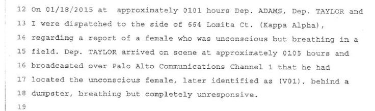 Police report brock turner | These Quotes From The Police Report Prove Brock Turner's Story Is Even Crazier Than You Thought