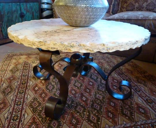 Provided By Rustic Gallery In SA: A Beautiful Travertine Ribbon Coffee Table,  Great For