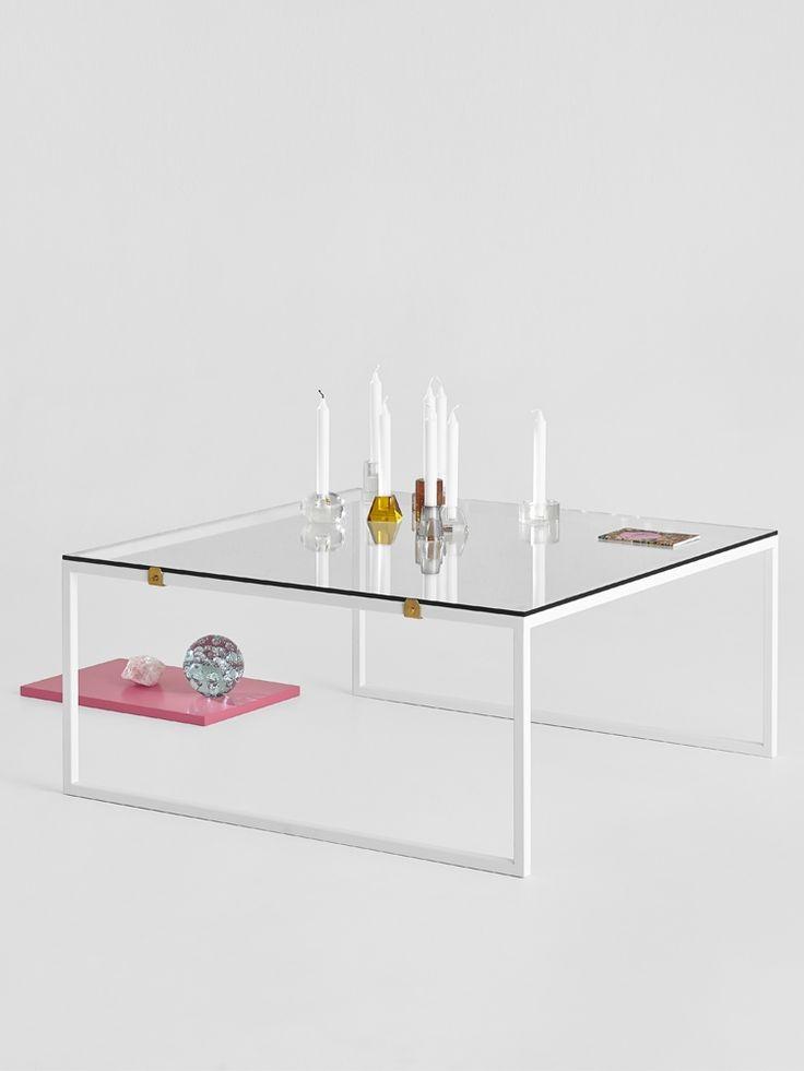 Soffbord, Glas, Betonggruvan 90x90 cm