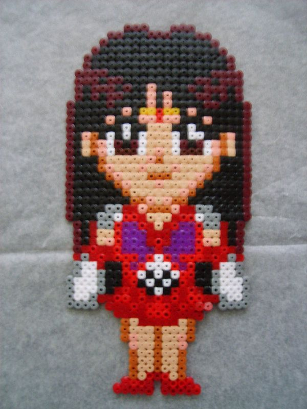 Sailor Mars perler beads by anyeshouse on deviantart