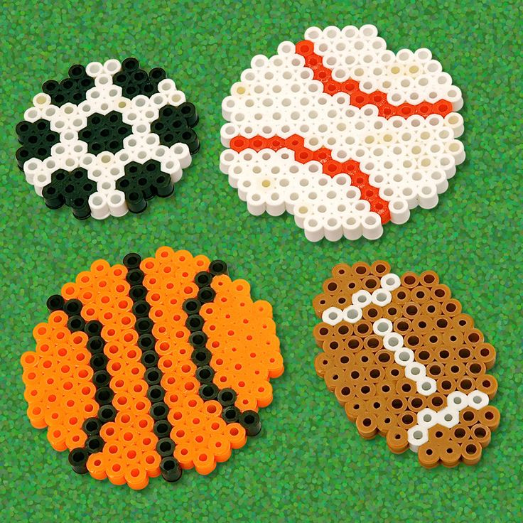 Decorate your school locker, your fridge, anything that is metal with these cool sports balls you create with Perler beads. Make your favorite: football, basketball, baseball, or soccer!