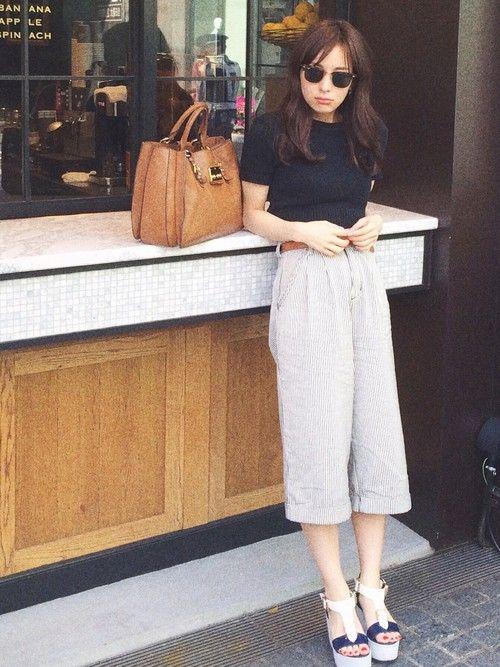 瀬戸晴加さんのTシャツ・カットソー「American Apparel アメアパのクロップド♡ 色違いで白も持っているほどお気に入りですー」を使ったコーディネート