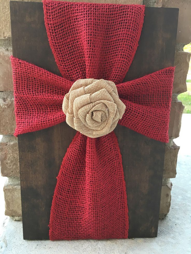 DIY Cross on Pinterest | Burlap Cross, Wooden Crosses and Wood Crosses