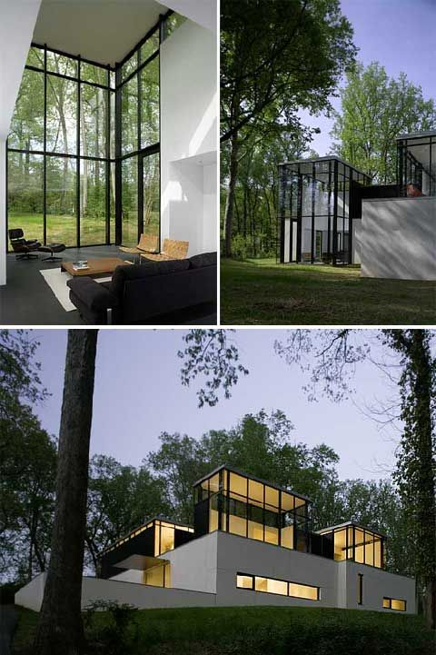 glass homes | Home Extensions | BlackWhite Residence: A Glass Home Extension ...
