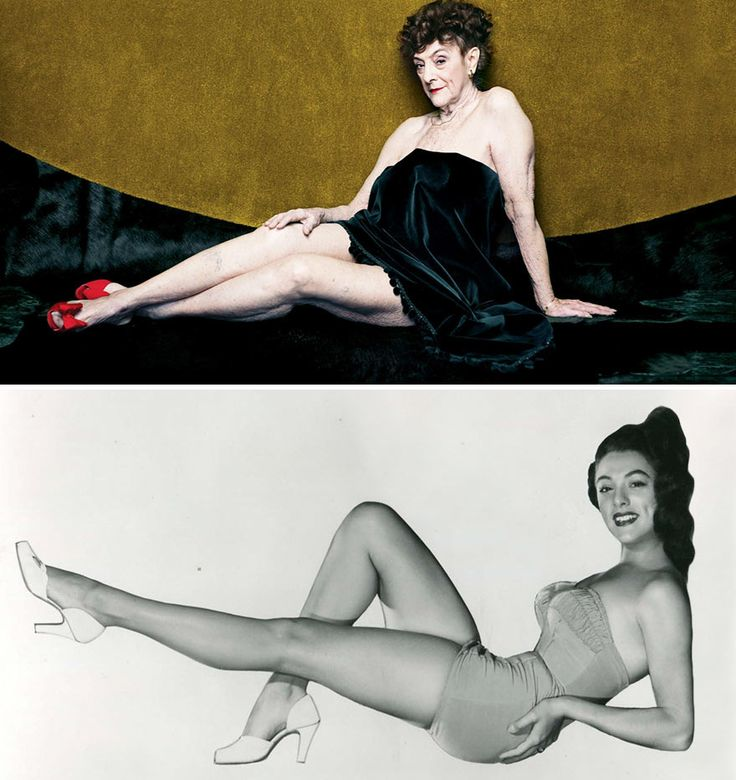 Dolores Del Monte, 82yo. As Miss March in 1954 Playboy and today.