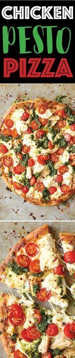 Chicken Pesto Pizza Chicken Pesto Pizza - The absolute perfect...  Chicken Pesto Pizza Chicken Pesto Pizza - The absolute perfect weeknight meal that comes together in minutes! Use leftover rotisserie chicken fresh tomatoes pesto and cheese! Recipe : http://ift.tt/1hGiZgA And @ItsNutella  http://ift.tt/2v8iUYW