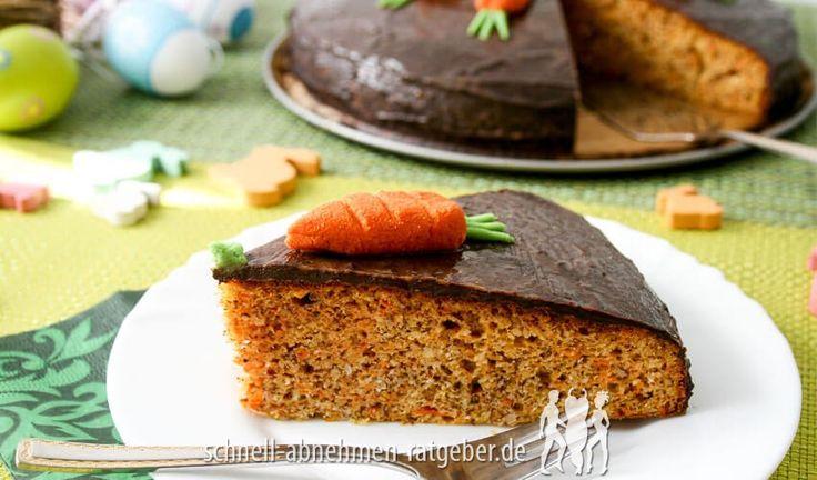 Karottenkuchen mit Schokoladenglasur Low Carb