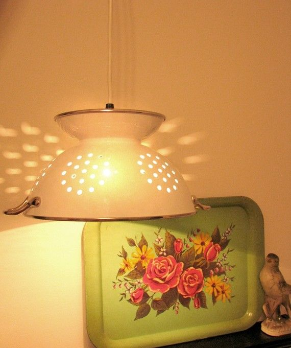 colander pendant light