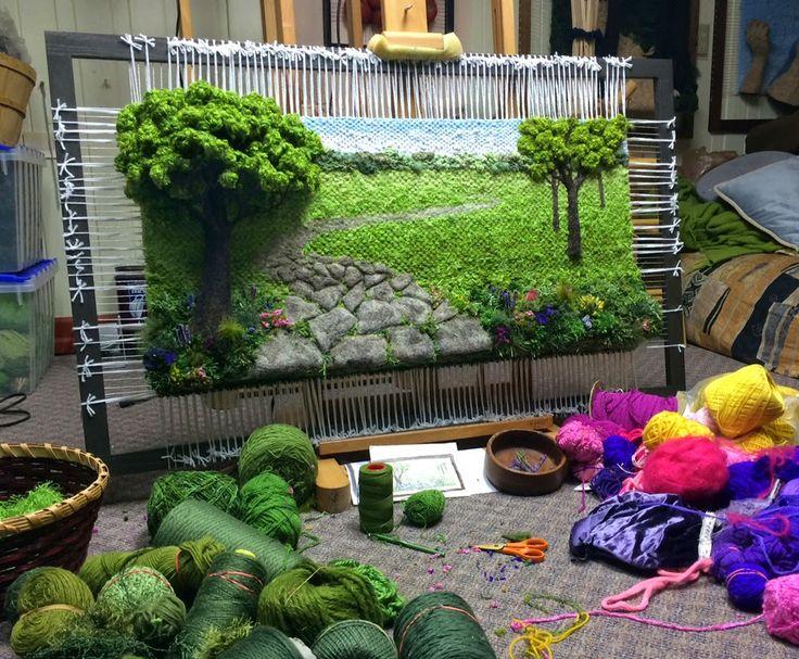 Dimensional Weaving - Martina Celerin 3D fiber art: Weave and ye shall receive!