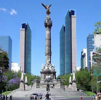 Ángel de la independencia. Ciudad de México