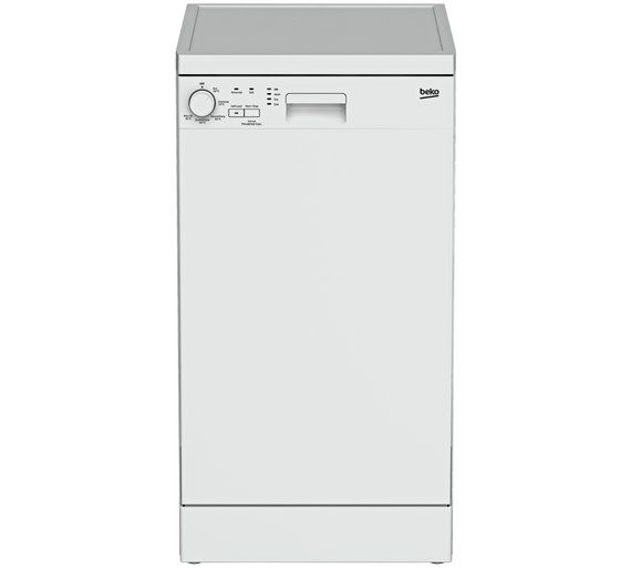 Buy Beko DFS05010W Slimline Dishwasher - White at Argos.co.uk - Your Online Shop for Dishwashers, Large kitchen appliances, Home and garden.