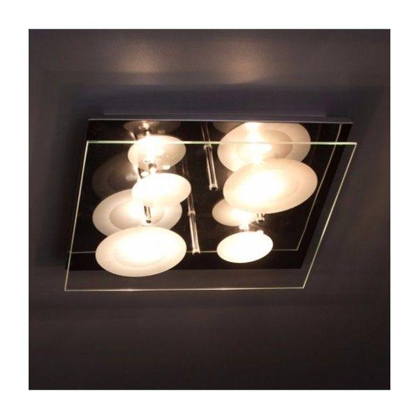 BRILLIANT SATORI DE 4X10W+LED 2X3W  Dekorative kvadrat taklampe/vegglampe i krom. Denne lampe er laget av metall og glass. Lampen er utstyrt med forskjellige typer av lamper , slik som for eksempel en LED- lampe.